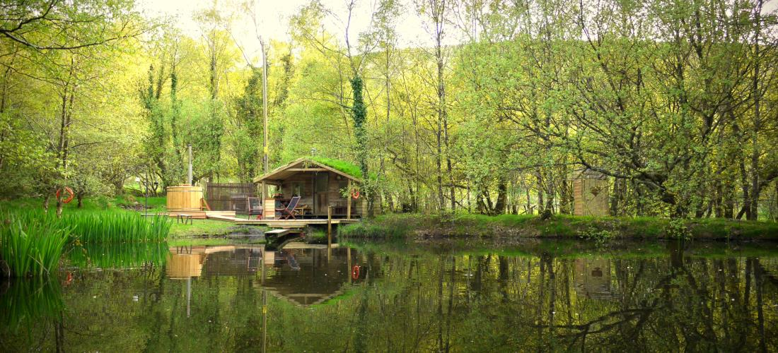Cabin On The Lake Lakeside Glamping With Hot Tub Wales